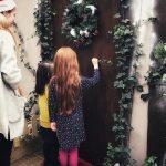 Knocking on the door to visit Santa