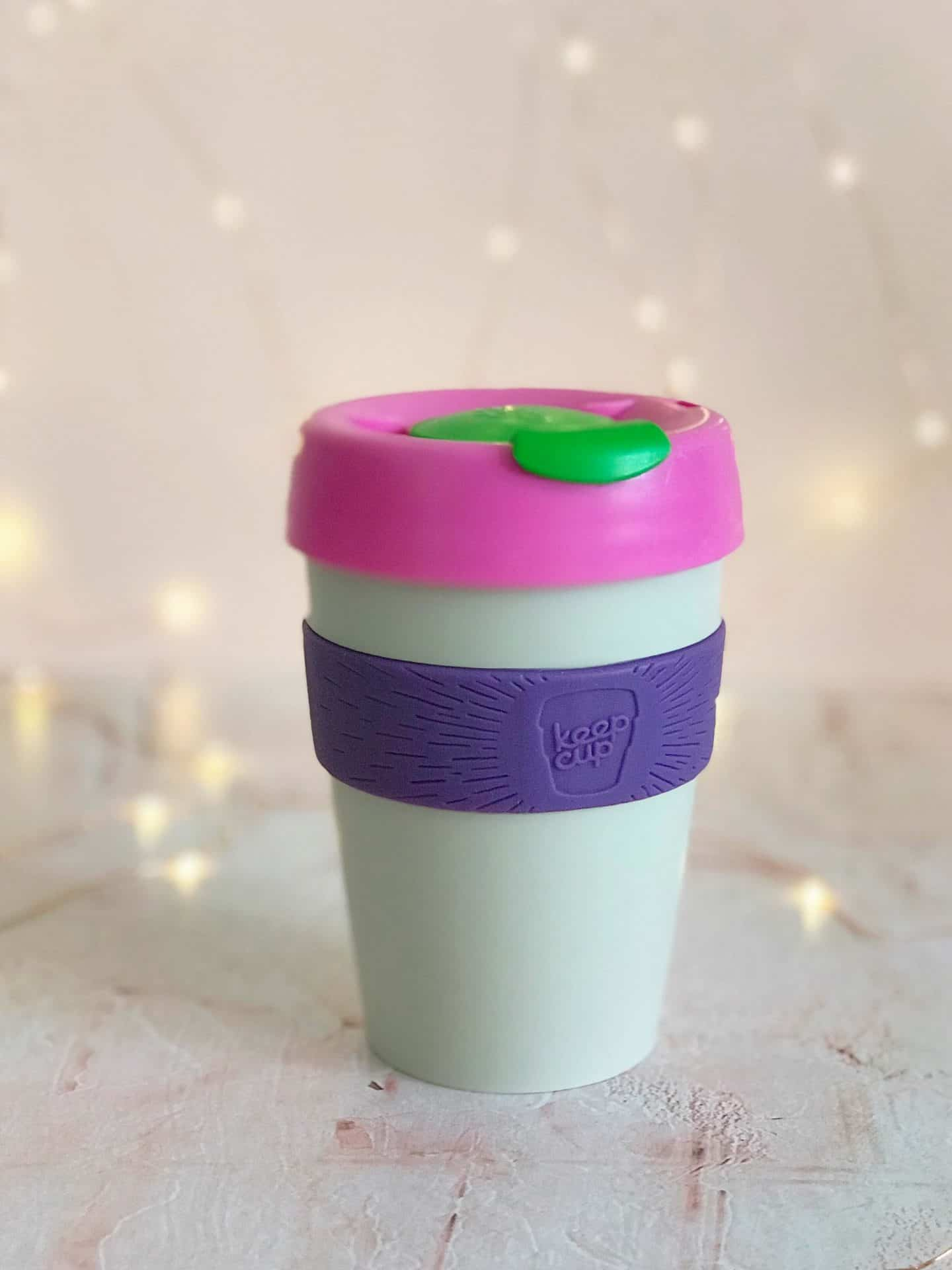 Pink and purple Keep Cup