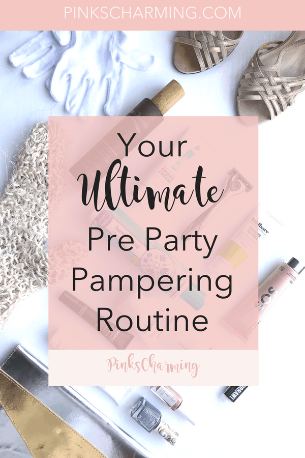Pamper yourself at home. Beauty hacks for your ultimate pre party pampering routine for glowing skin and glossy hair. #beautyhacks #beauty #pamper #pamperyourself
