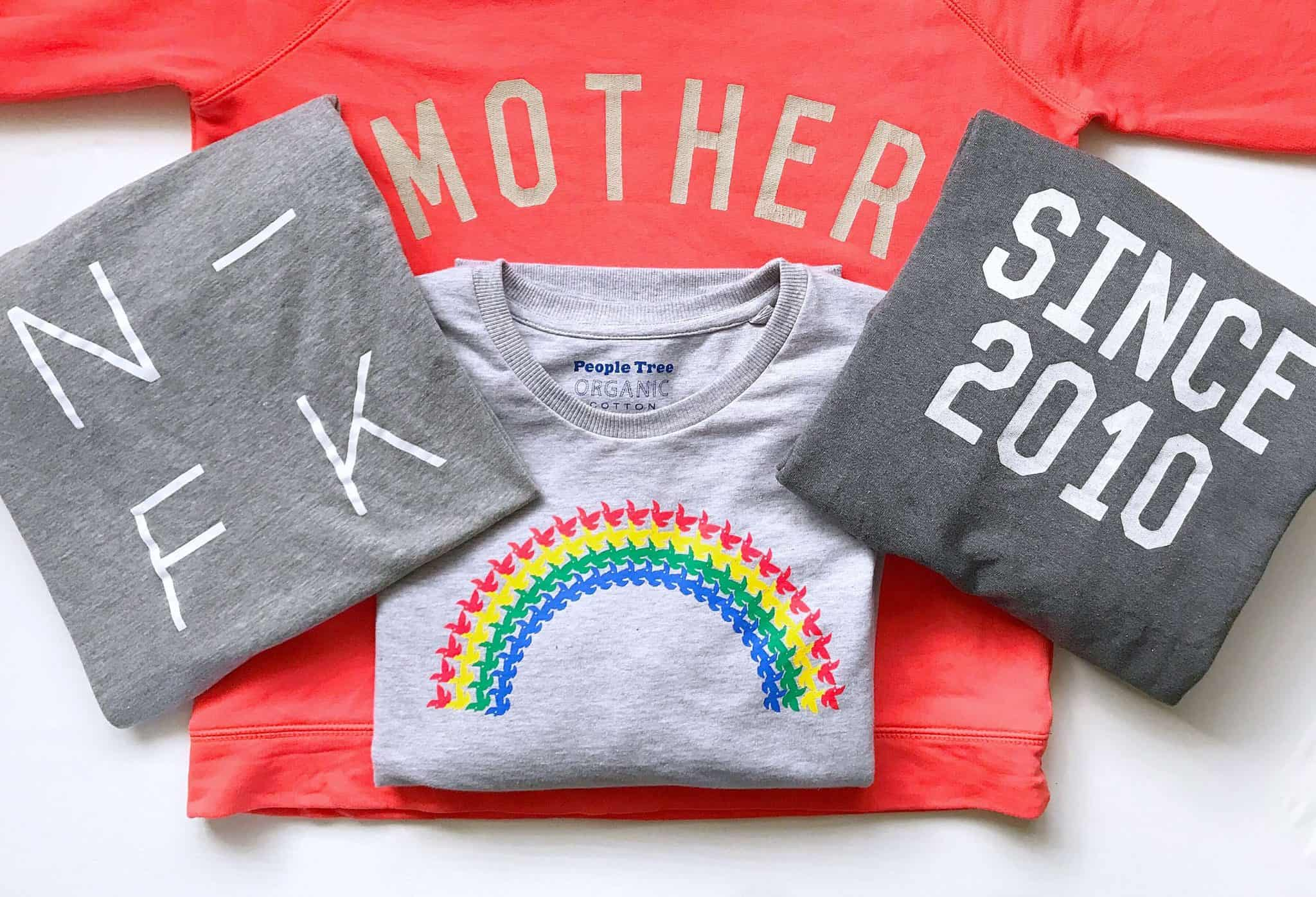 Ethically made sweatshirts from Family Store, People Tree and Nor-Folk