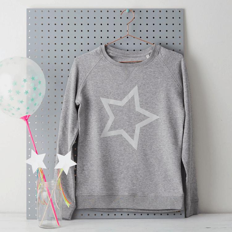 Lala & Bea Grey Star Sweatshirt