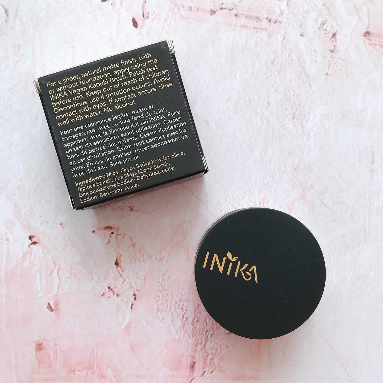 Inika Mineral Mattifying Powder Ingredients