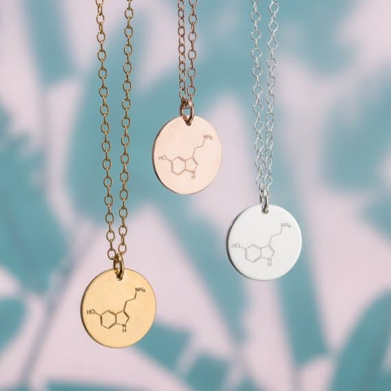 Unique Mother's Day Gift Ideas: PoshTottyDesigns Personalised Energy Molecule Necklace