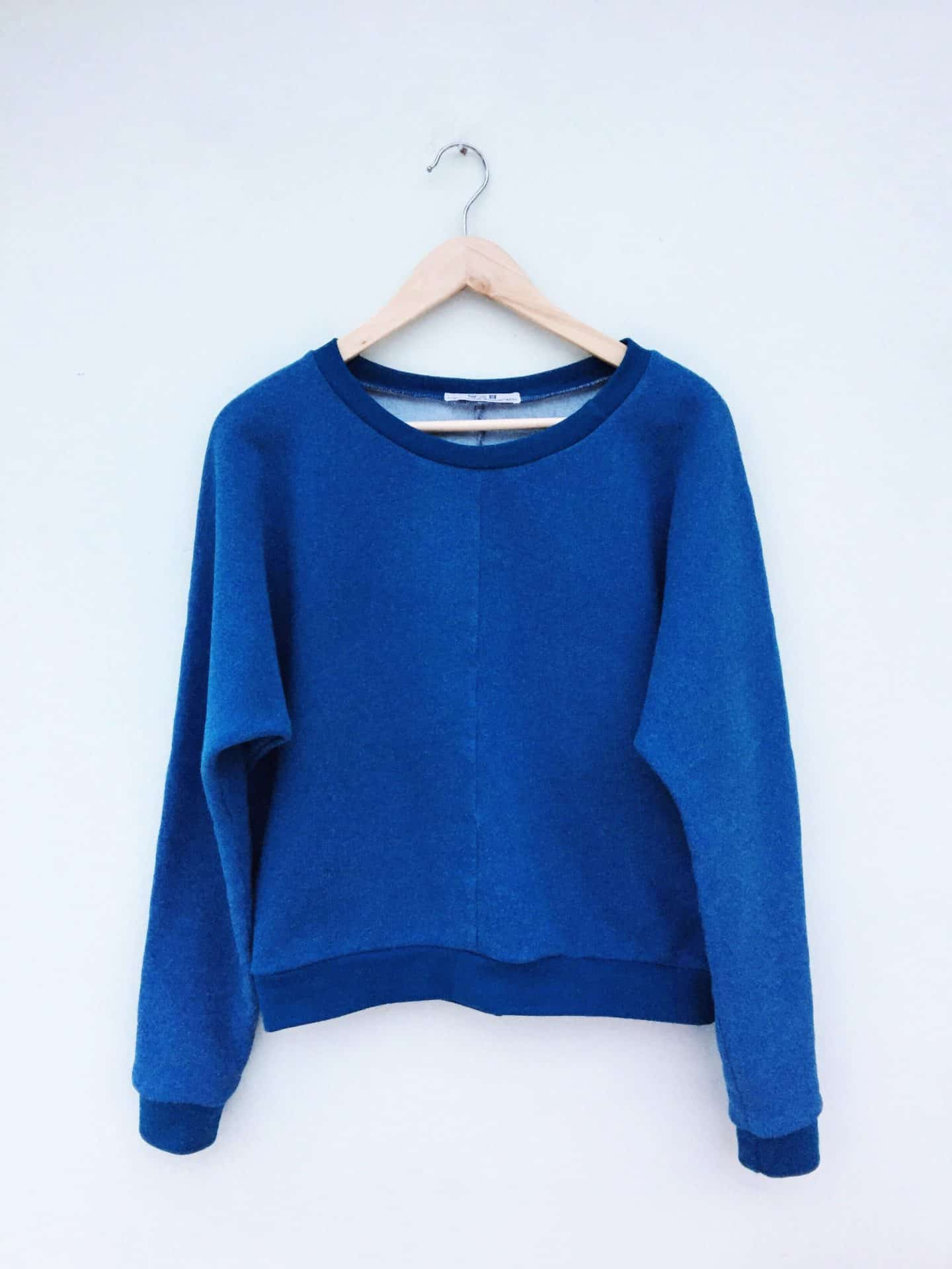 With Narrative Blue Organic Sweatshirt.