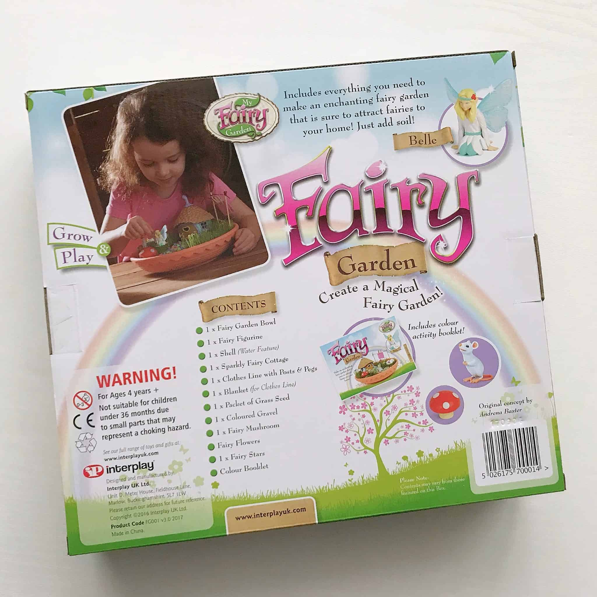 Back of My Fairy Garden Magical Fairy Garden box