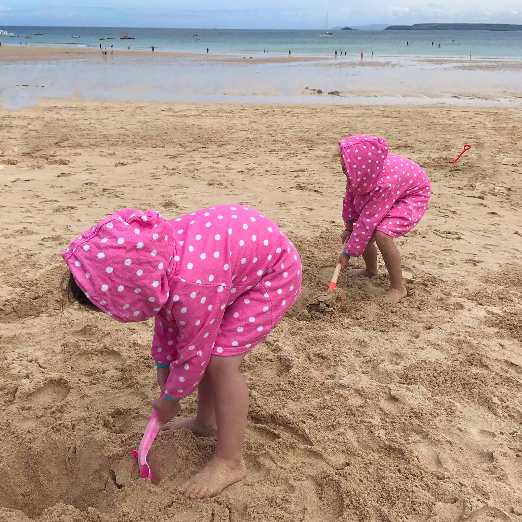 Happy memories of digging on the beach in Cornwall