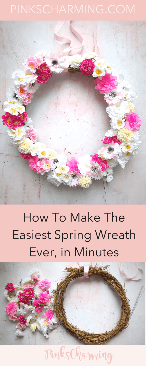 How To Make The Easiest Spring Wreath in Minutes Using Fake FlowersHow To Make The Easiest Spring Wreath in Minutes Using Fake Flowers