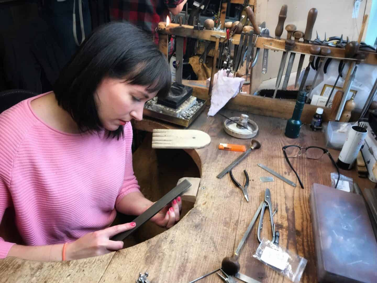 Jewellery Making Masterclass at The Goldsmithy Goldsmiths