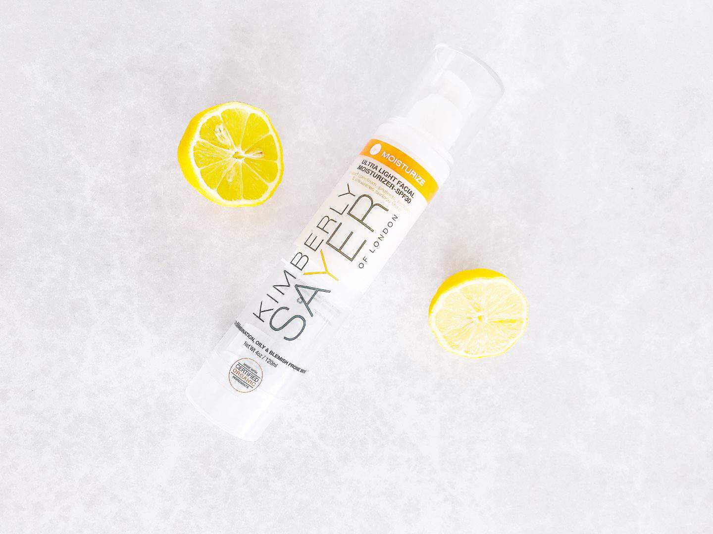 Get a citrus zing for spring with natural skincare from Kimberly Sayer