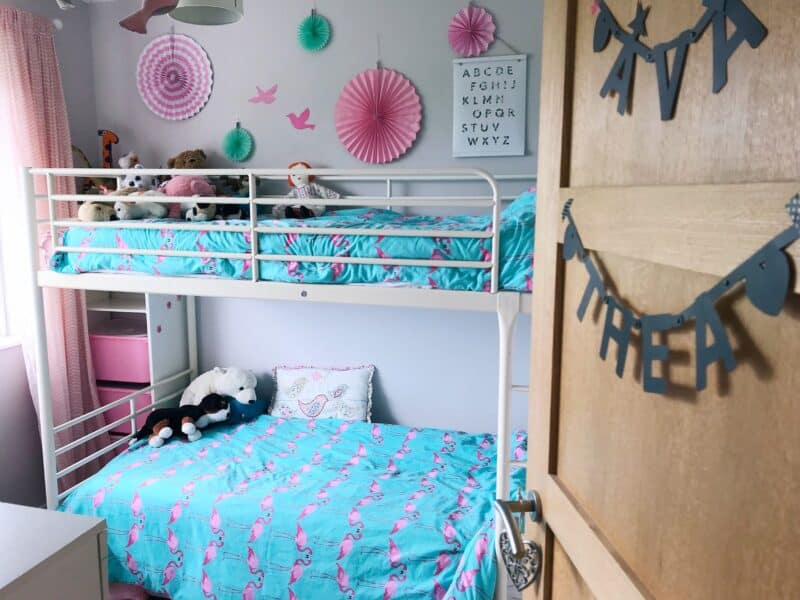 Creating a shared bedroom with bunk beds