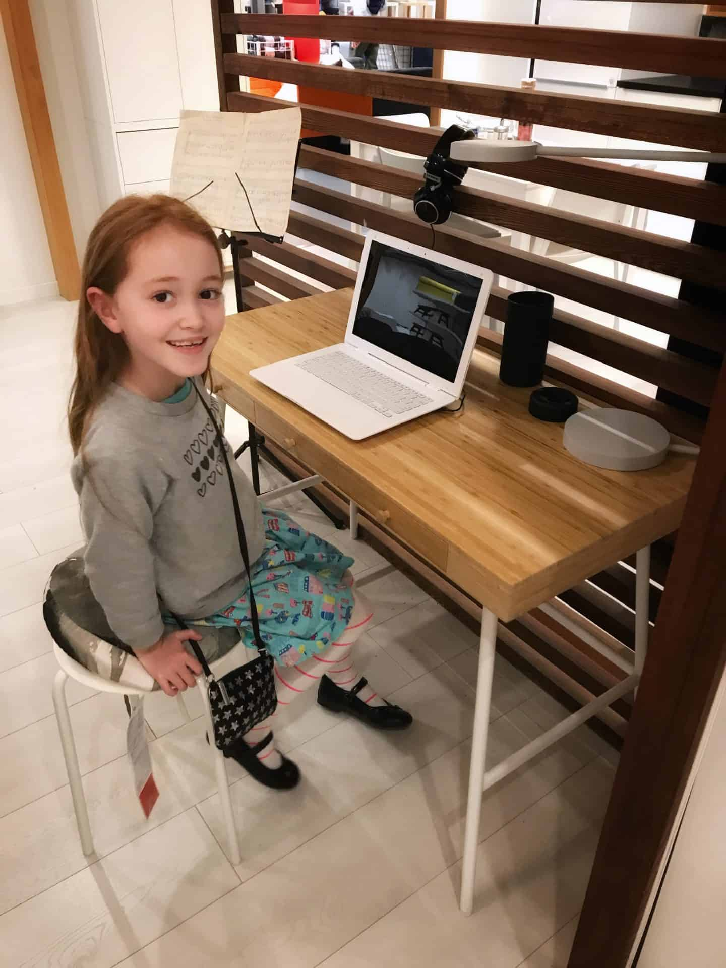 Ikea Lillasen bamboo desk