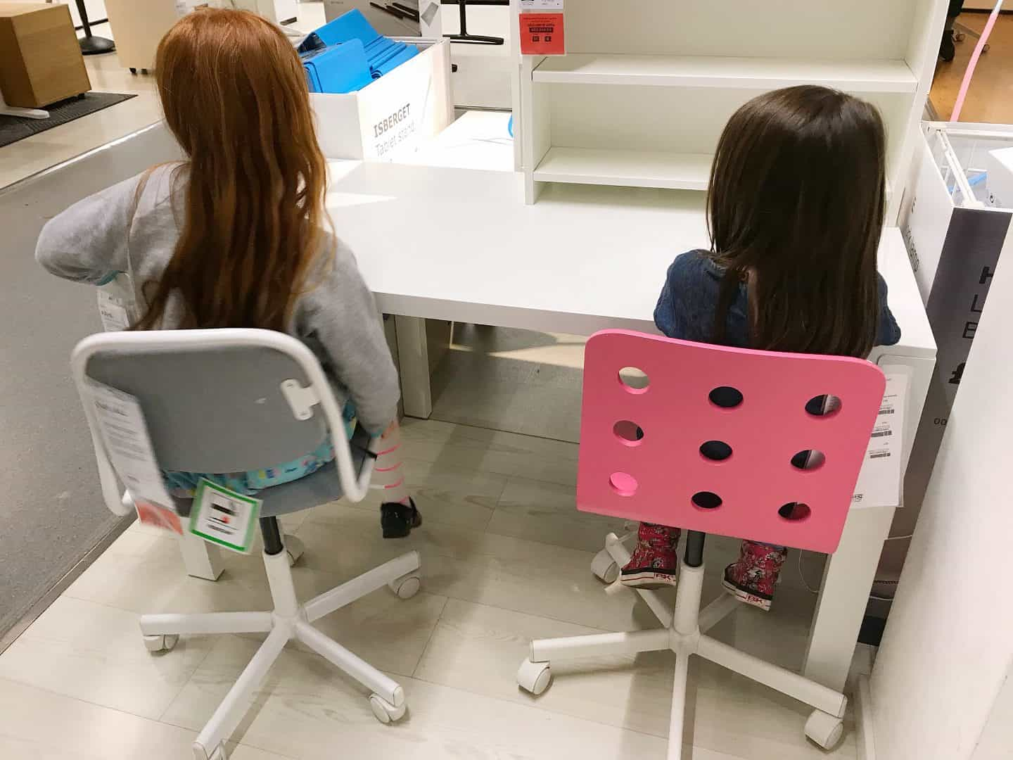 Ikea Pahl Desk with two chairs