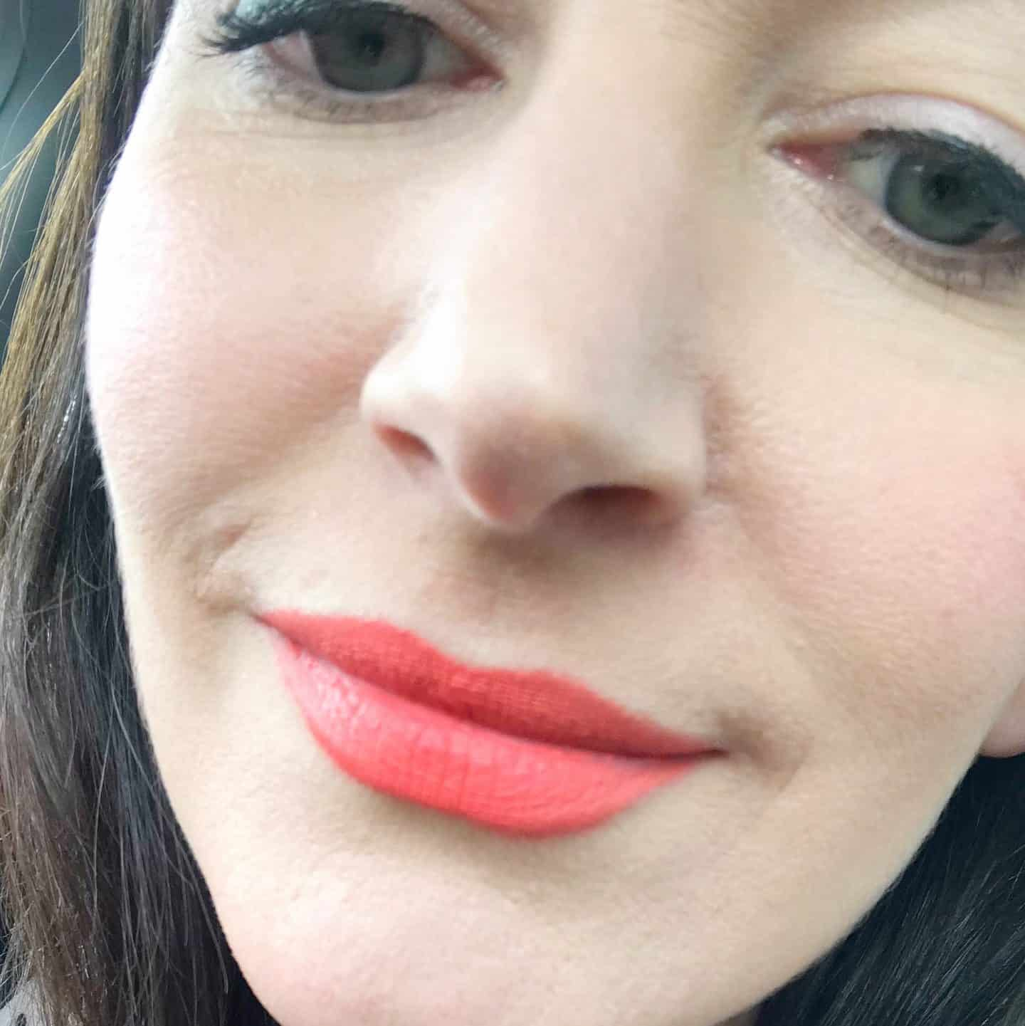 RMS Beauty Wild With Desire Lipstick in Flight of Fancy - after 3 hours and a cup of tea