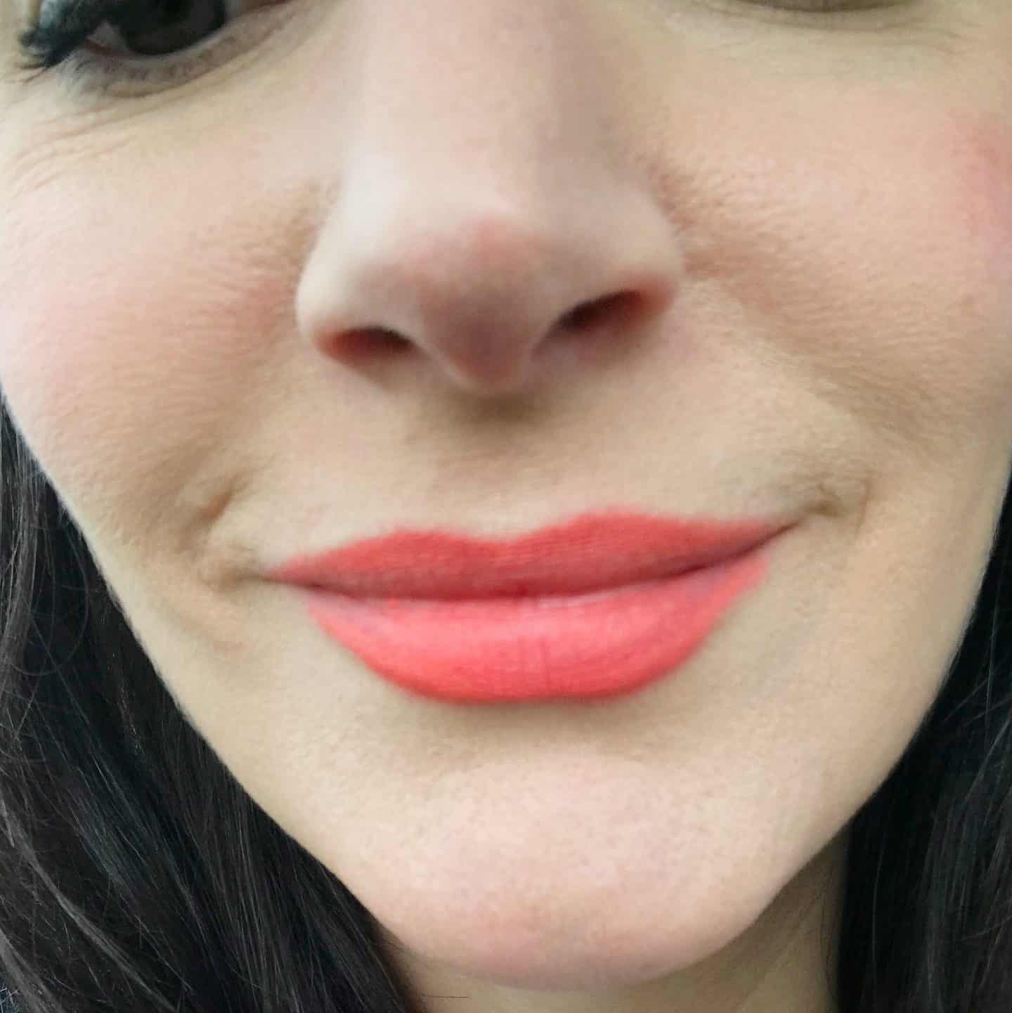 RMS Beauty Wild With Desire Lipstick in Flight of Fancy after 5 hours and lunch