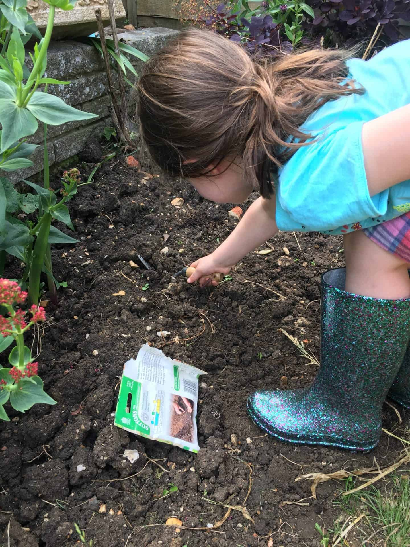 Planting pease #GetThemGrowing for National Children's Gardening Week?