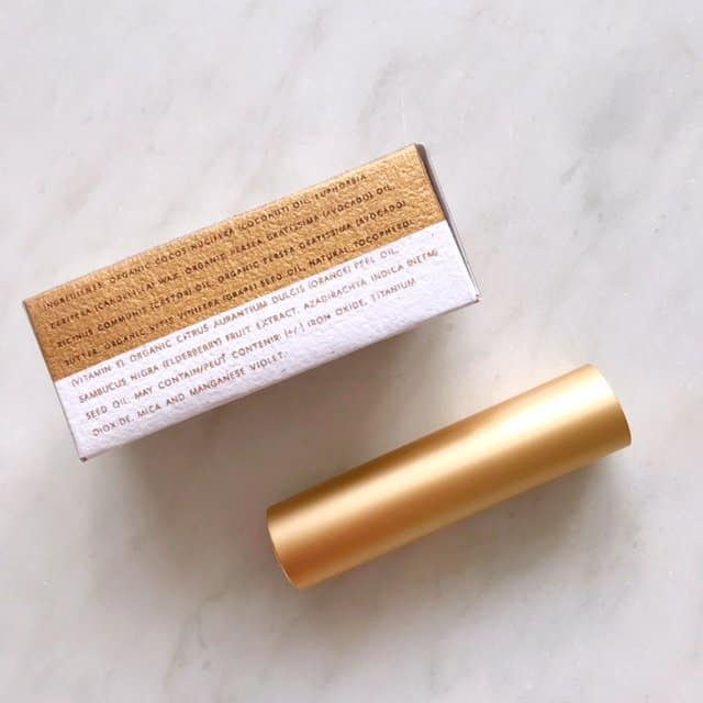 Axiology Natural Organic Lipstick ingredients