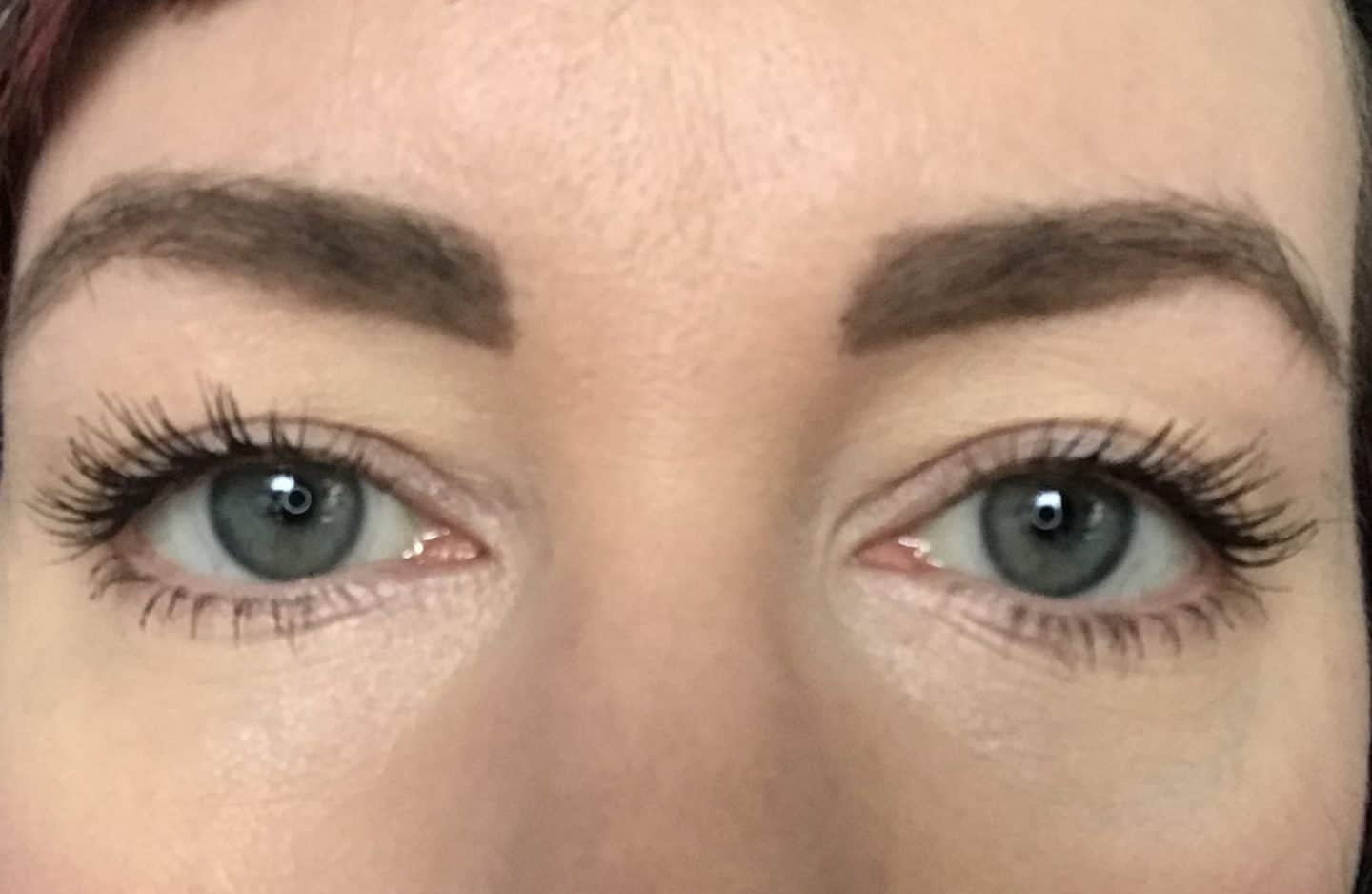 Eyes with two coats of Nude by Natura Alluring Mascara