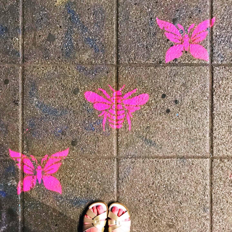 Neon pink graffiti