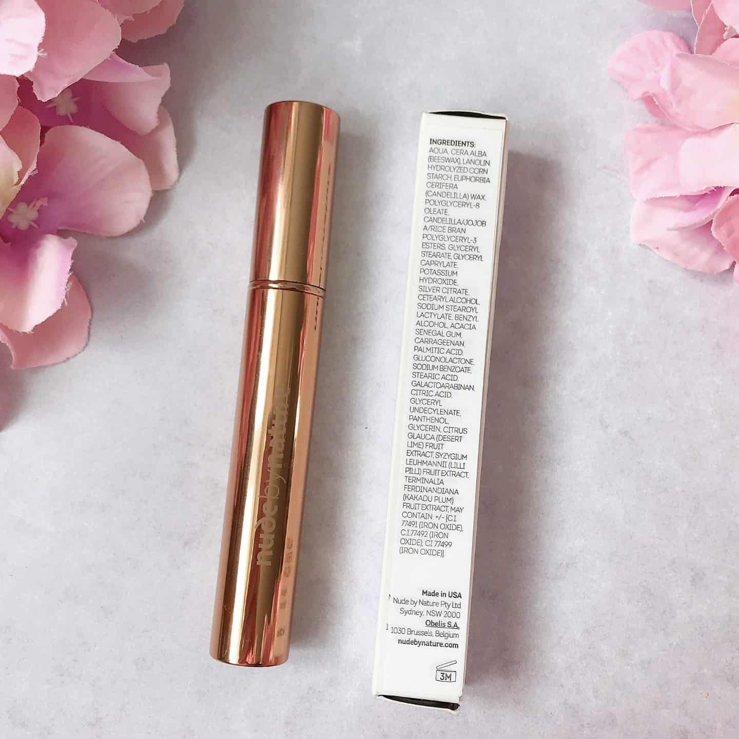 Nude by Nature Allure Defining Mascara ingredients.