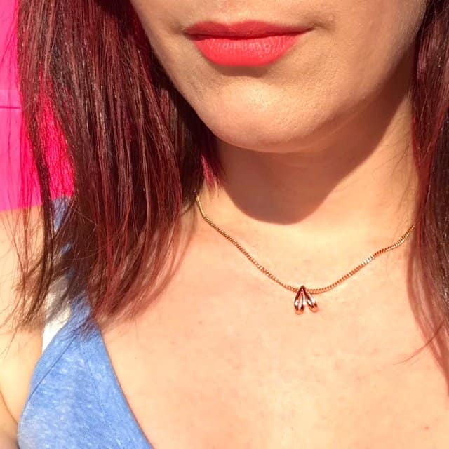 Sacet Ethical Necklace in the sun