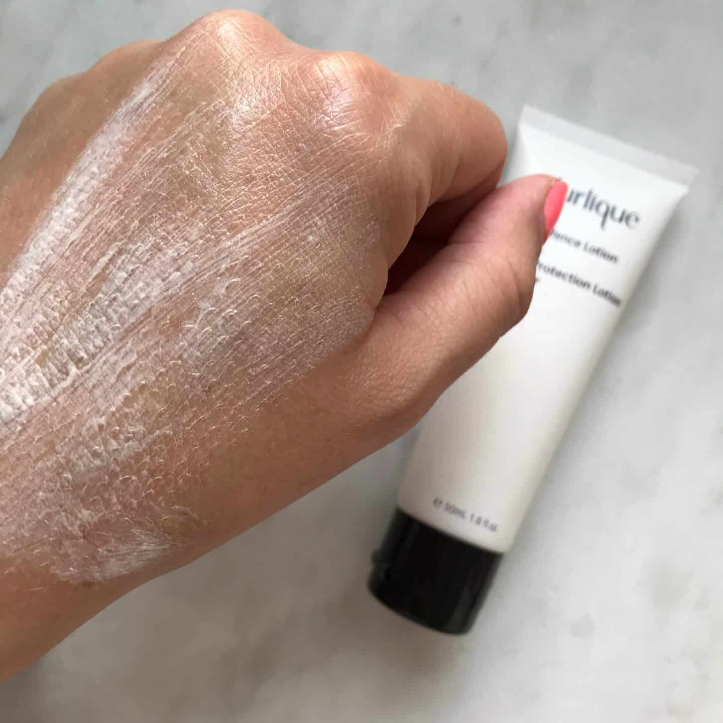 Jurlique UV Defence Lotion SPF50 smoothed in
