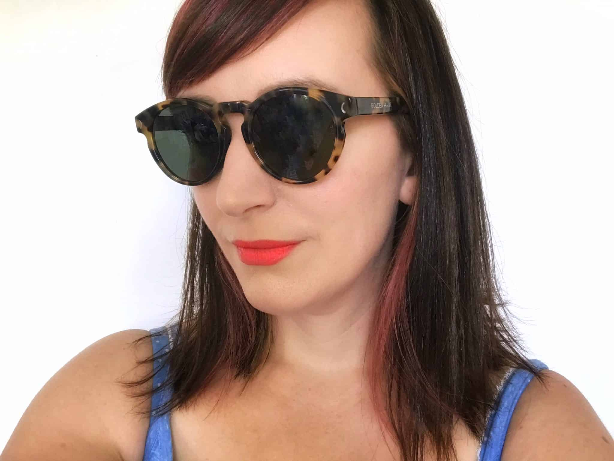 Wearing Golden Hour sunglasses