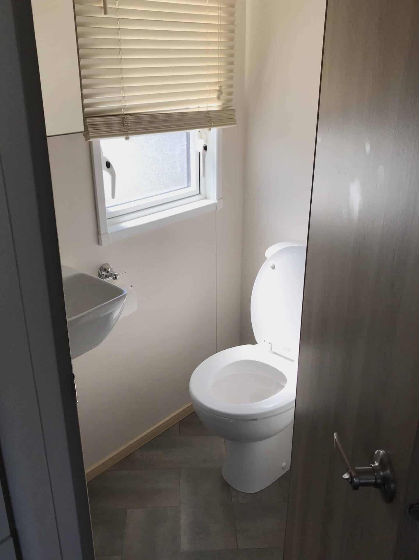 Ensuite at our static caravan at Trevornick