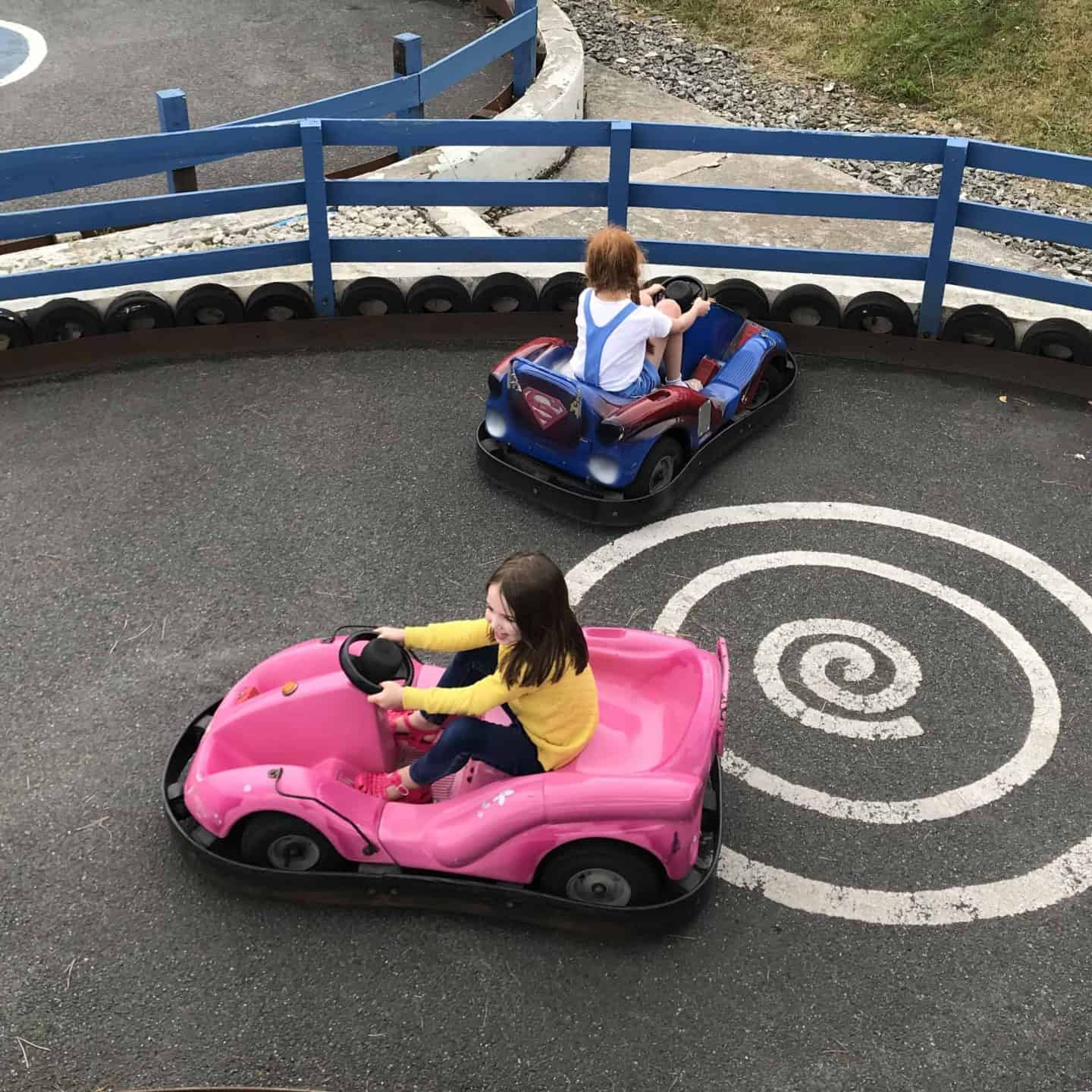 Go cart fun at Holywell Bay Fun Park, Cornwall