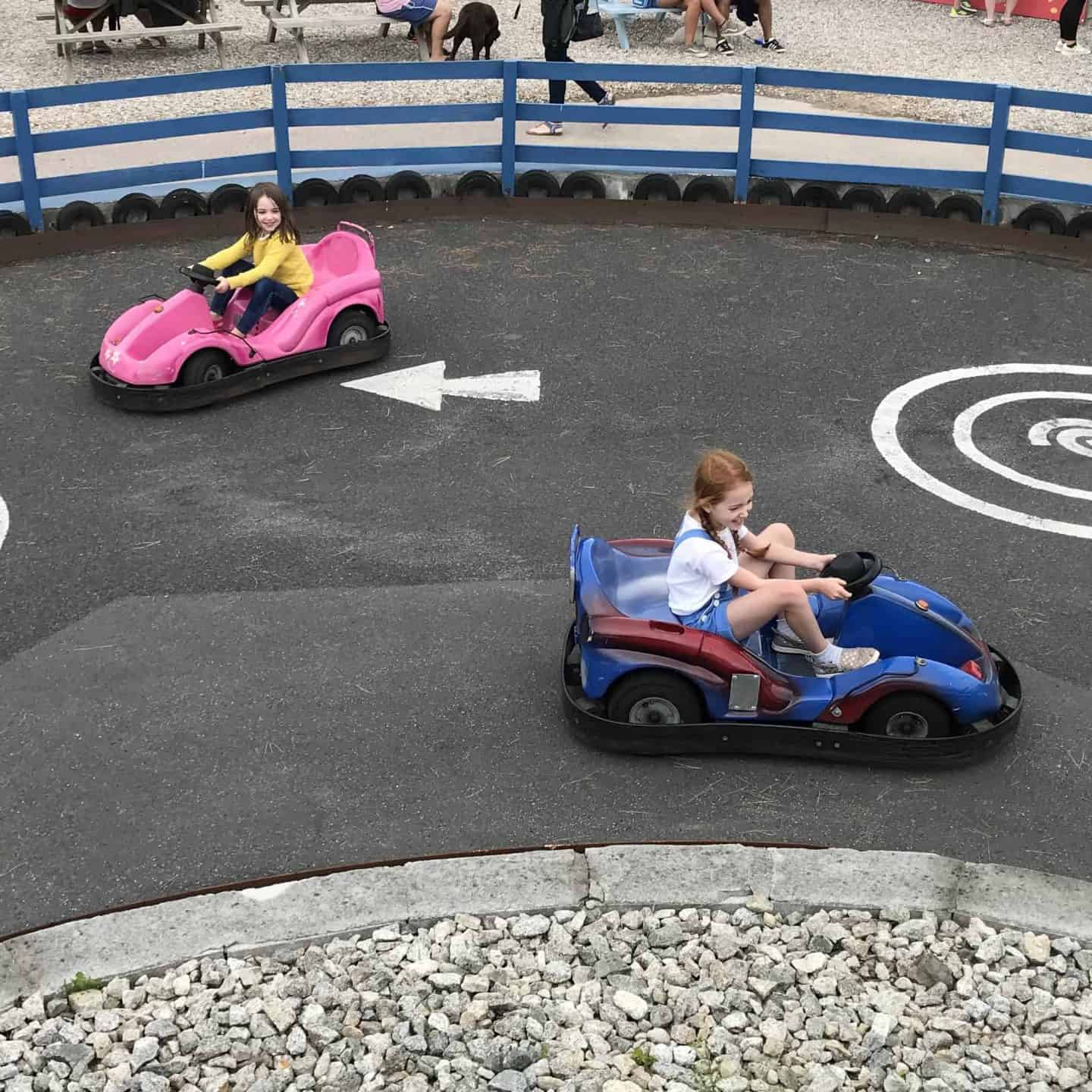 Go carts at Holywell Bay Fun Park, Cornwall
