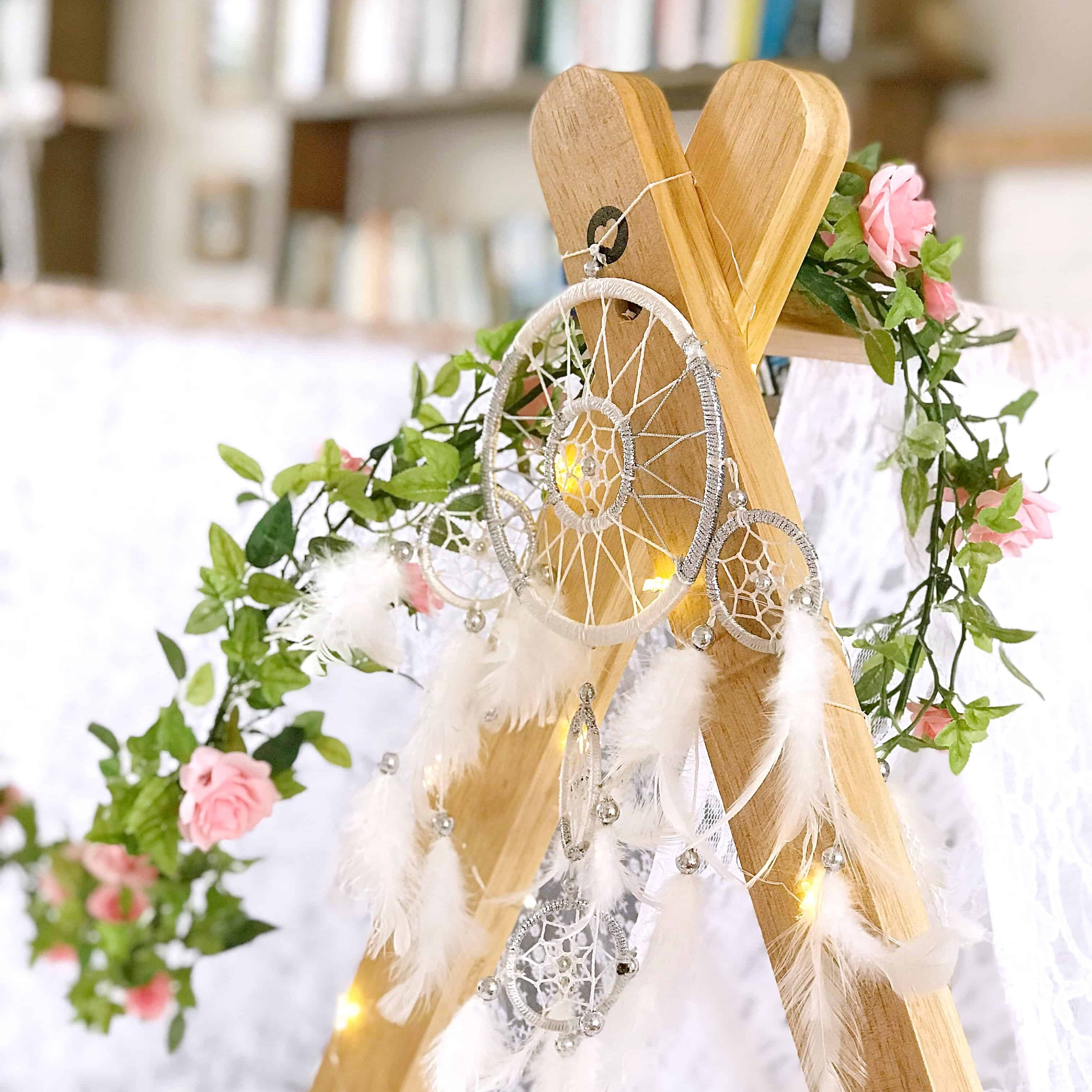Pretty dream catcher on a teepee
