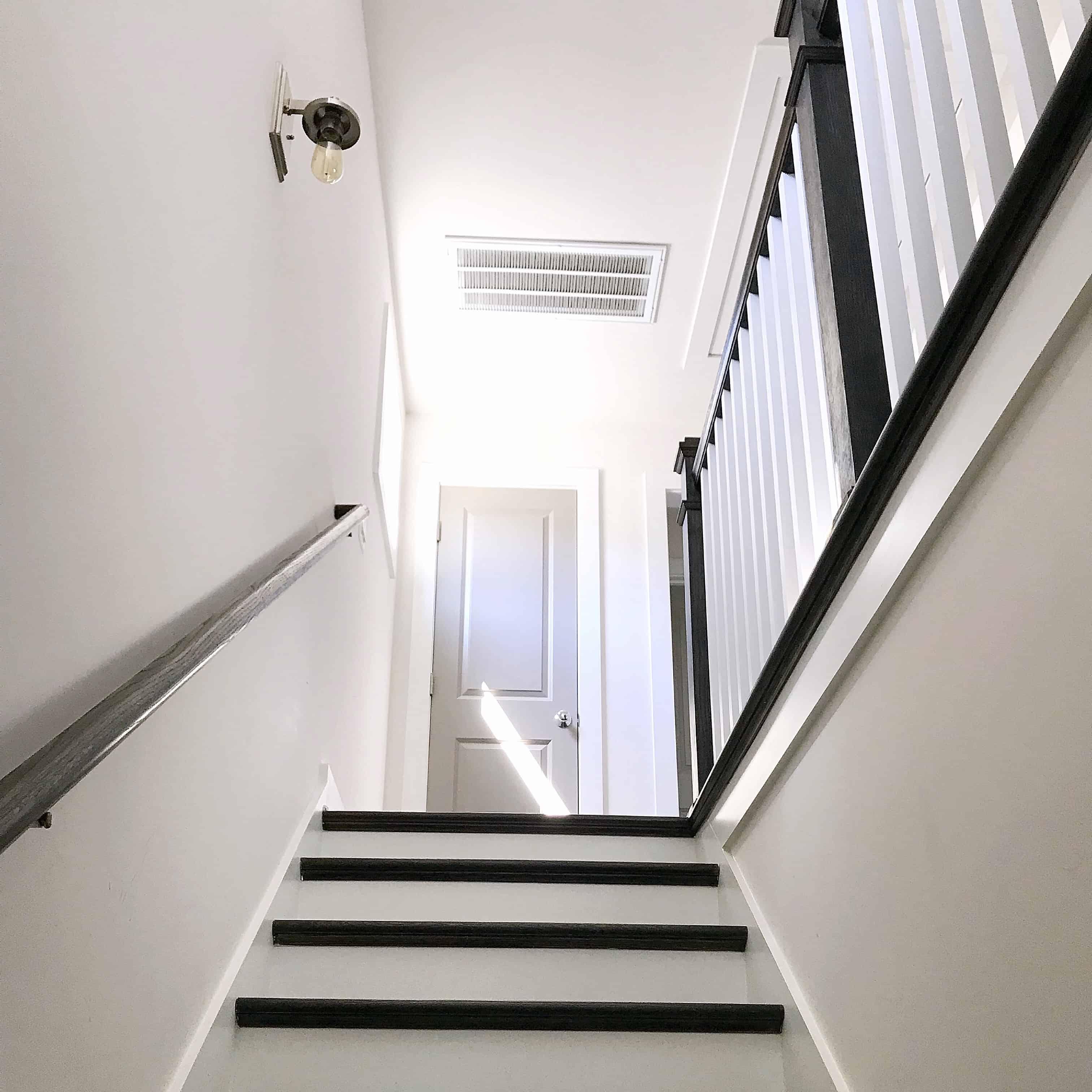 Light bright monochrome stairs