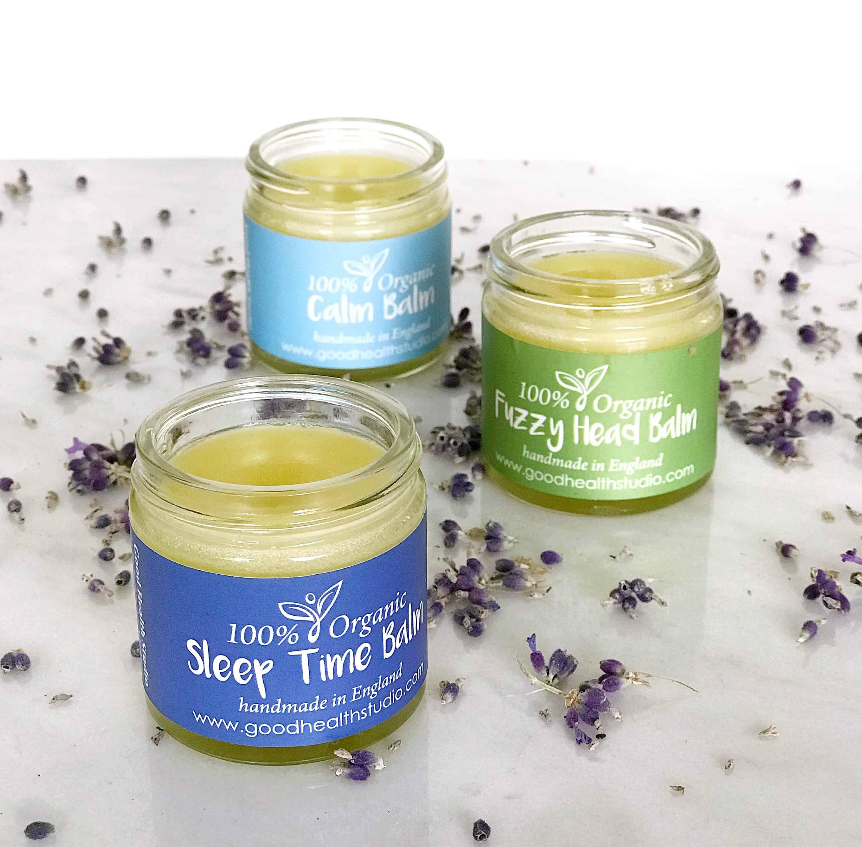 Looking after myself with Good Health Studio 100% organic aromatherapy wellness balms