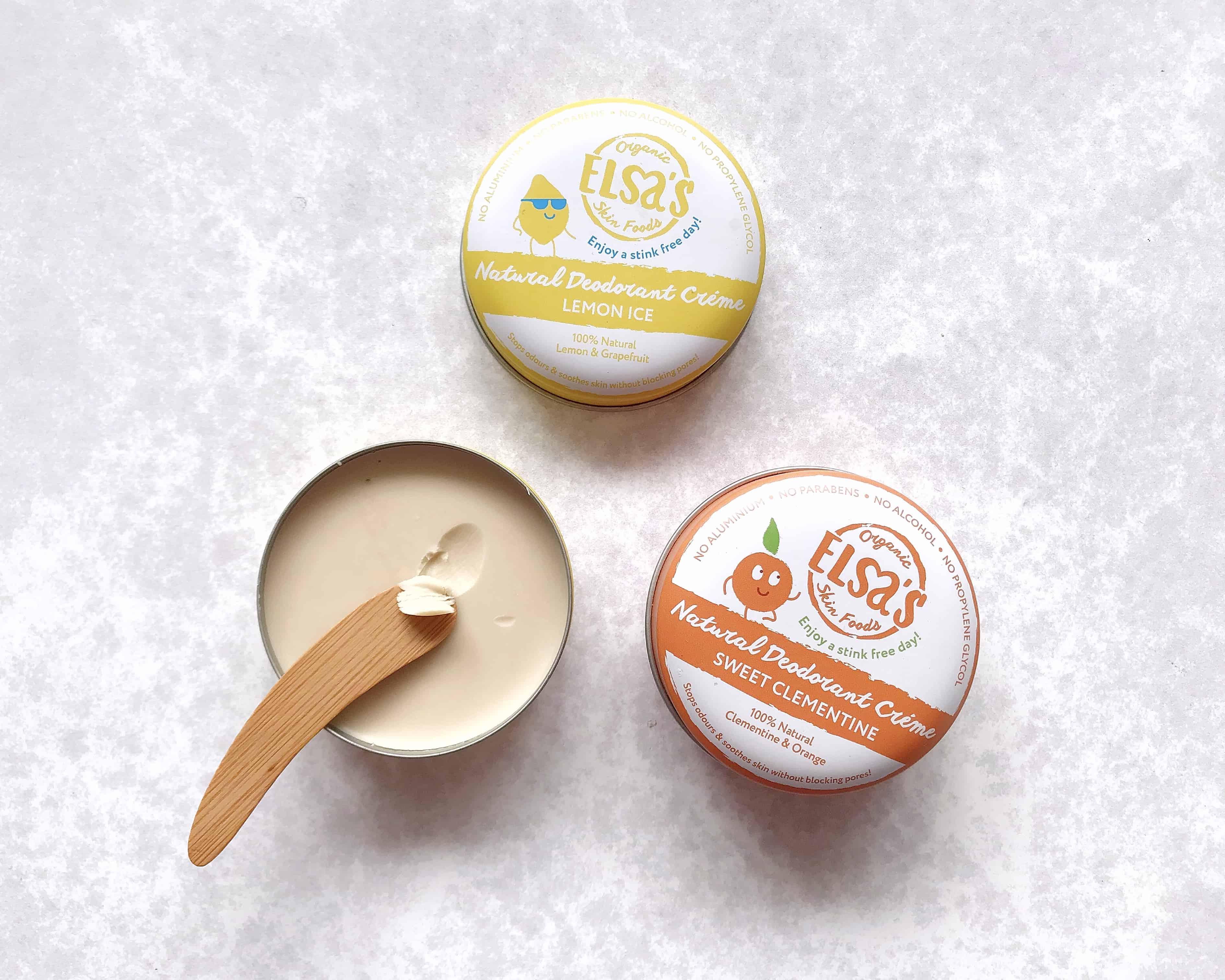 Elsa's Organic Skin Foods natural deodorant tins
