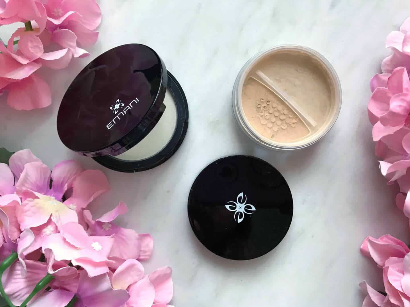 Emani Vegan Cosmetics Perfecting Crushed Foundation and Mattifying Powder Bye Bye Shine Review