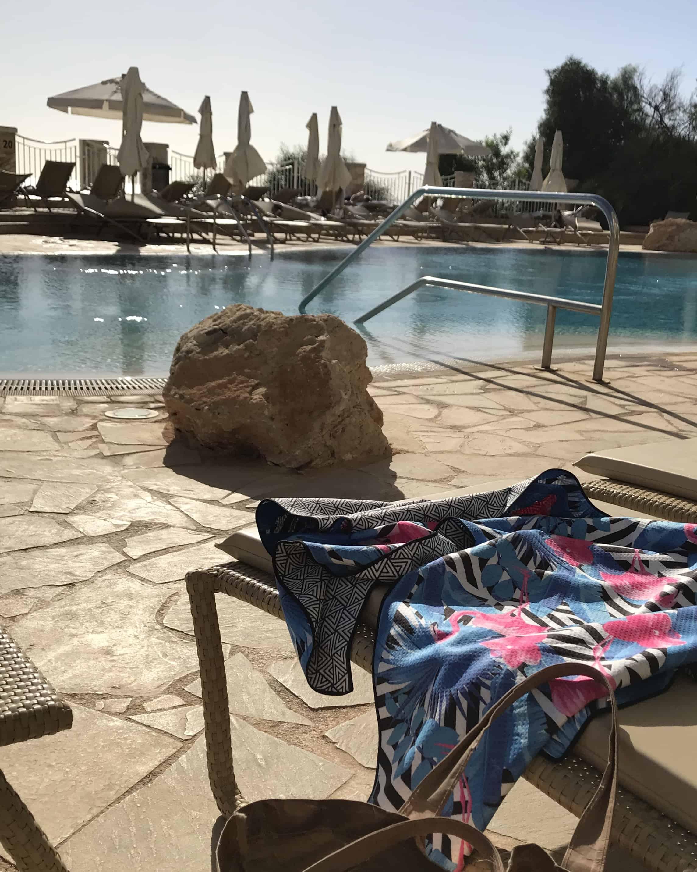 Poolside with a Tesalate beach towel