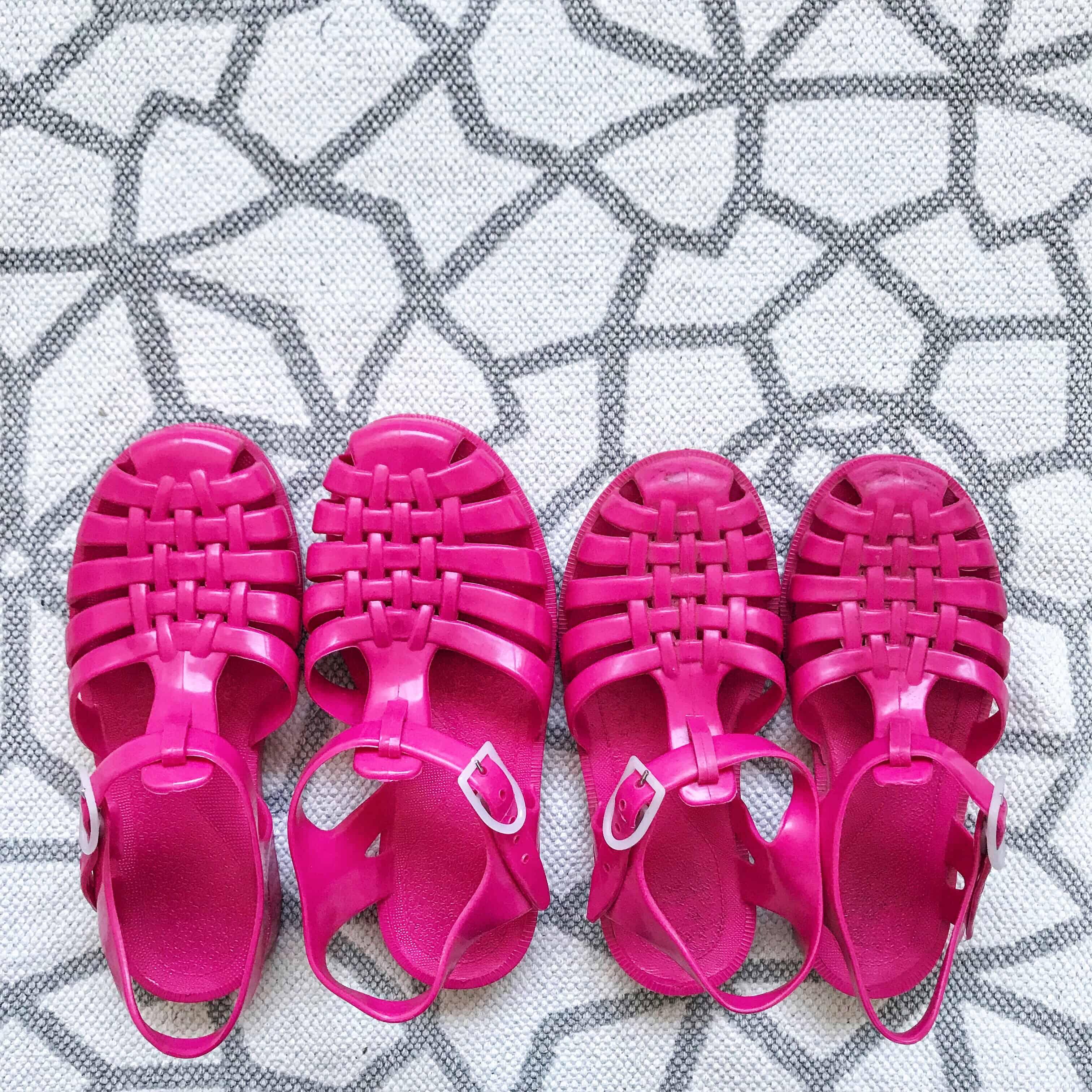 Sun Jellies Raspberry Jelly Shoes