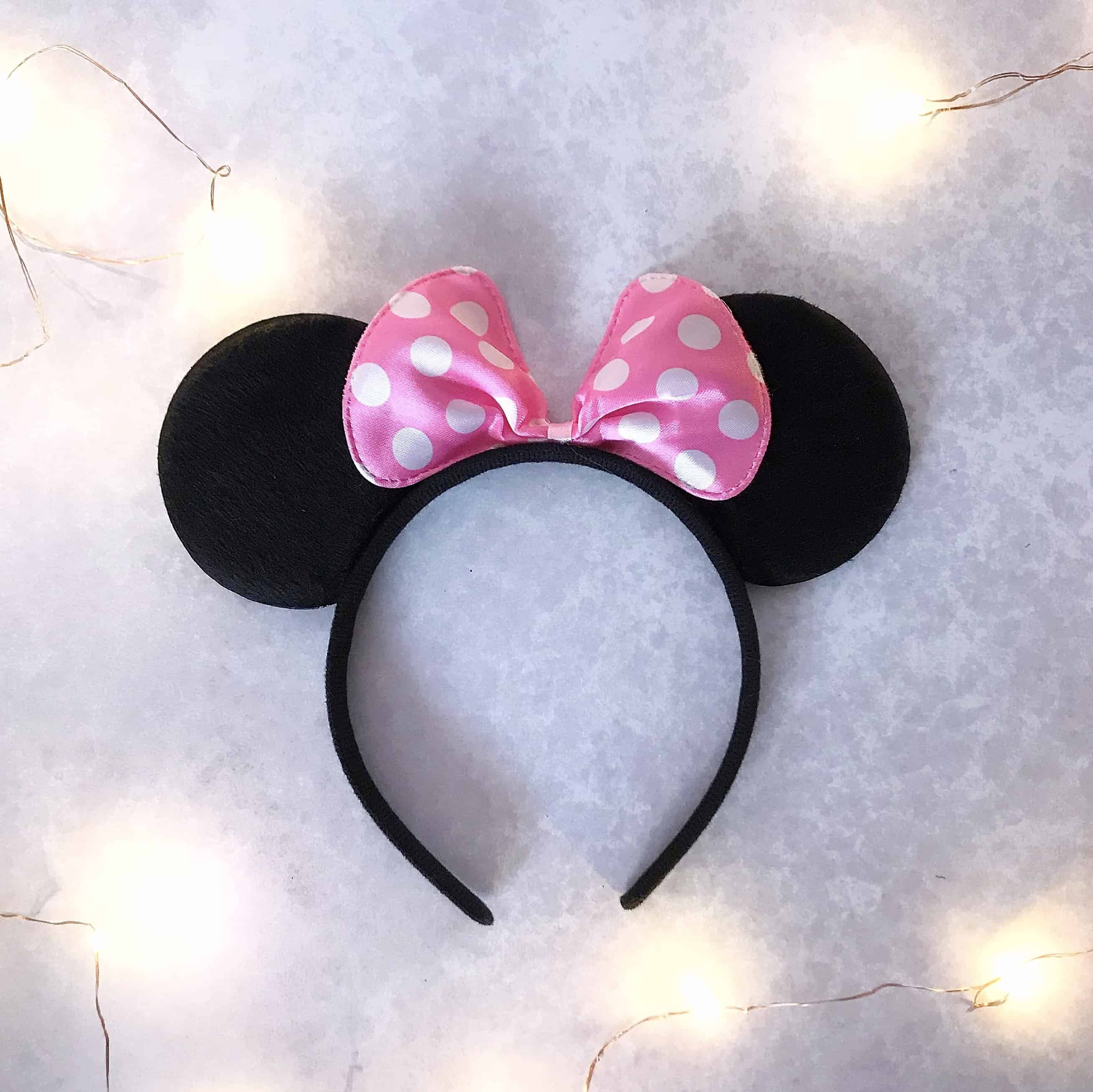 Disney Minnie Mouse ears pink bow headband