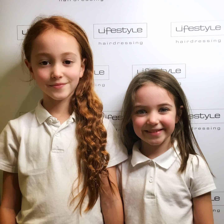 Before their haircuts