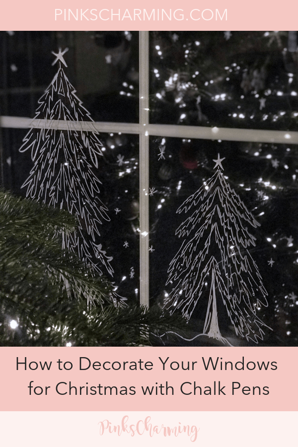 How to Decorate Your Windows for Christmas with Chalk Pens