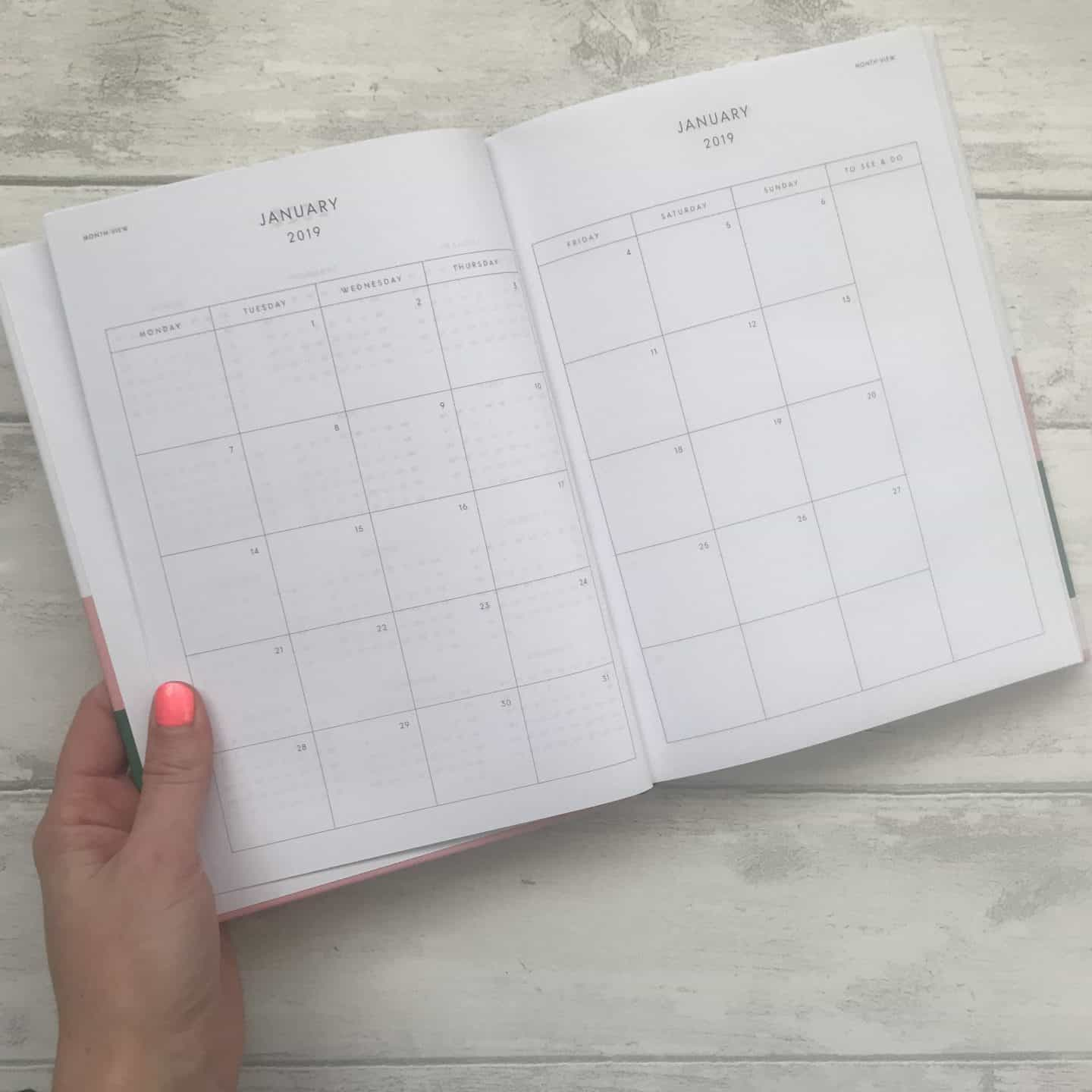 Papier diary monthly planner pages