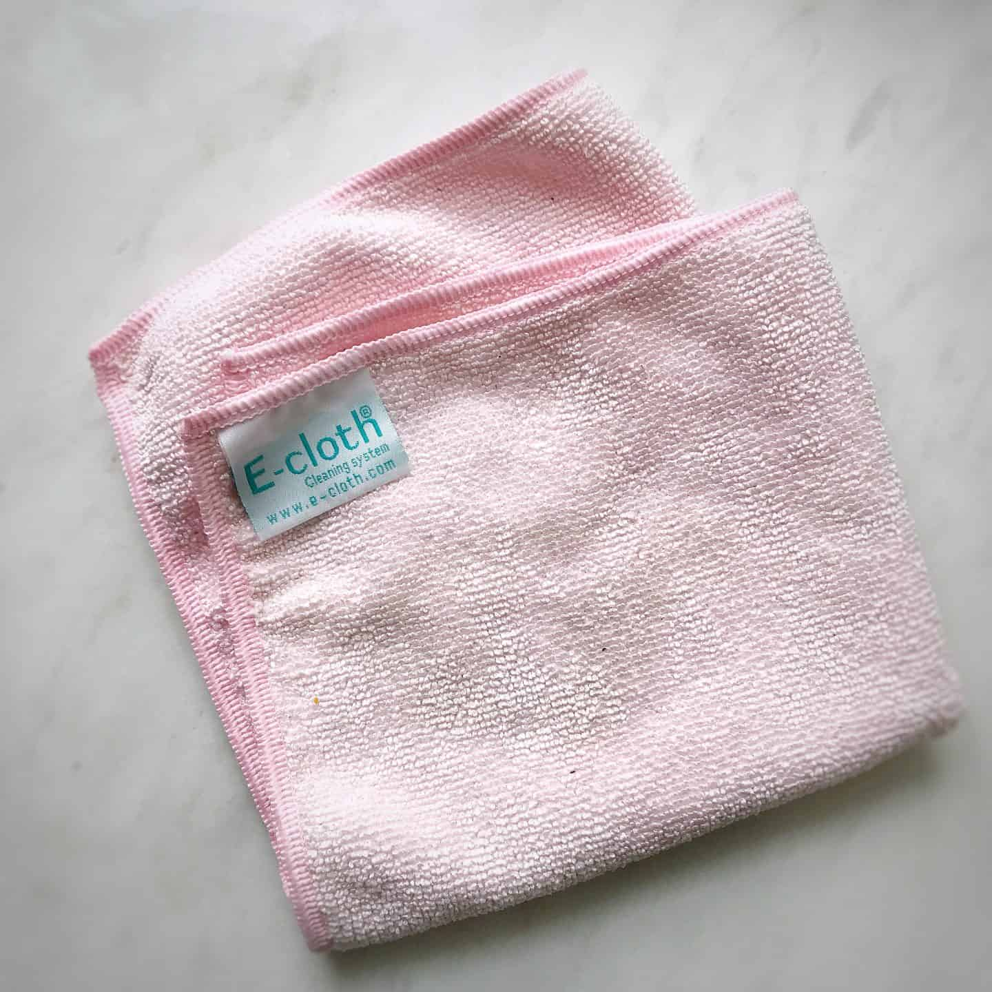Pink e-cloth for eco-friendly cleaning