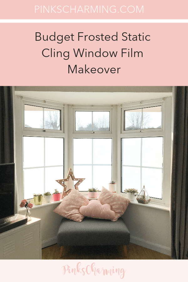 Budget Frosted Static Cling Window Film Makeover