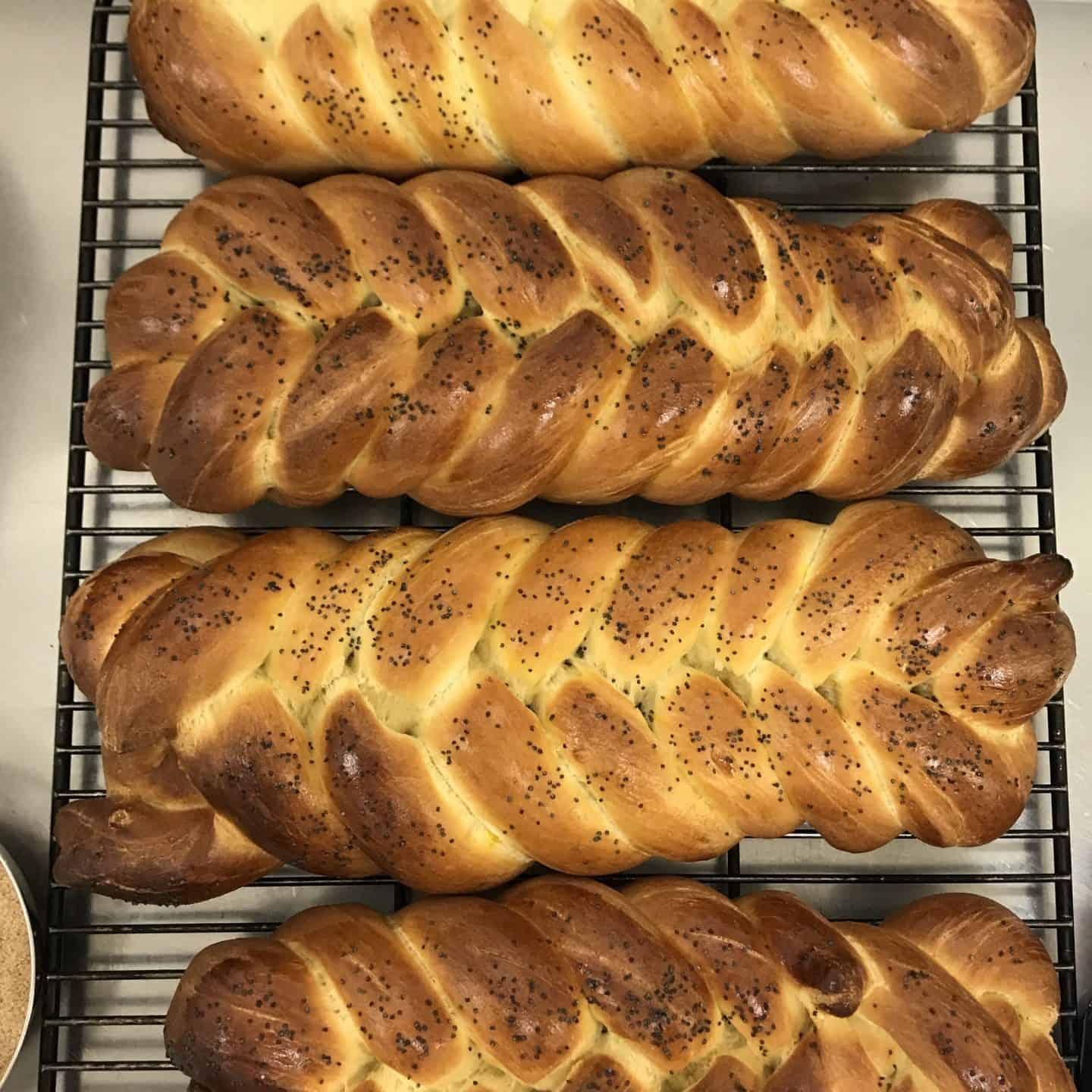 Chollah bread fresh from the oven