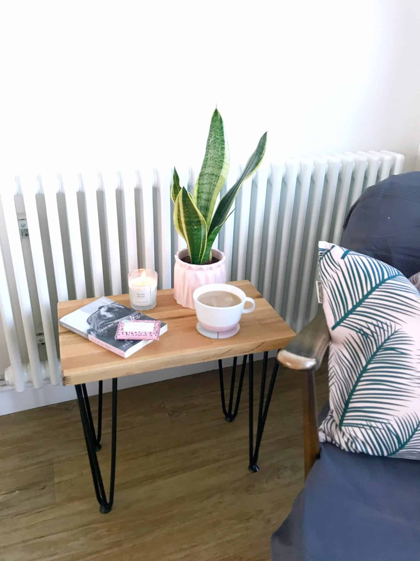 How to make a hairpin leg side table