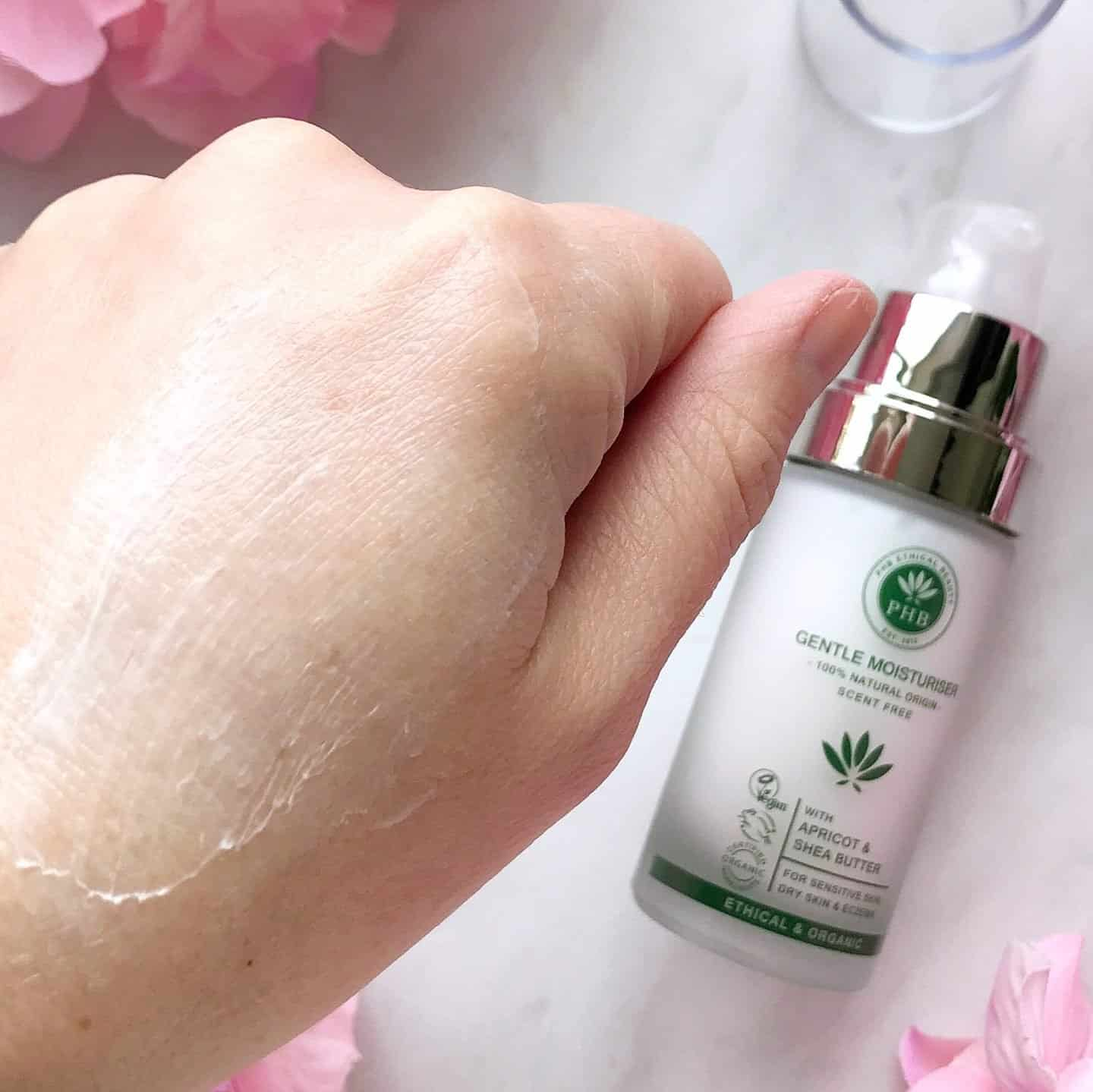 PHB Ethical Beauty Gentle Moisturiser smoothed in