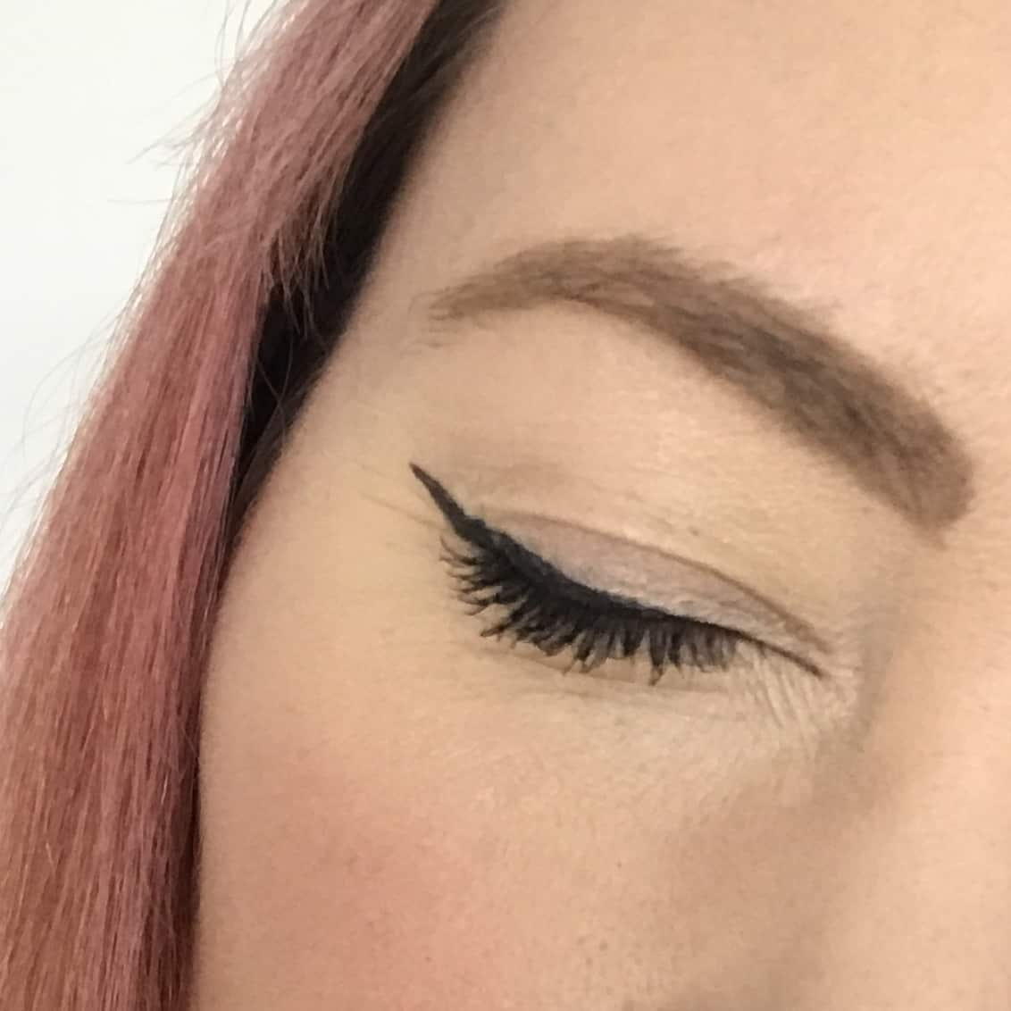 Crisp lines from the Inika Certified Organic Liquid Eyeliner from the March Love Lula Beauty Box