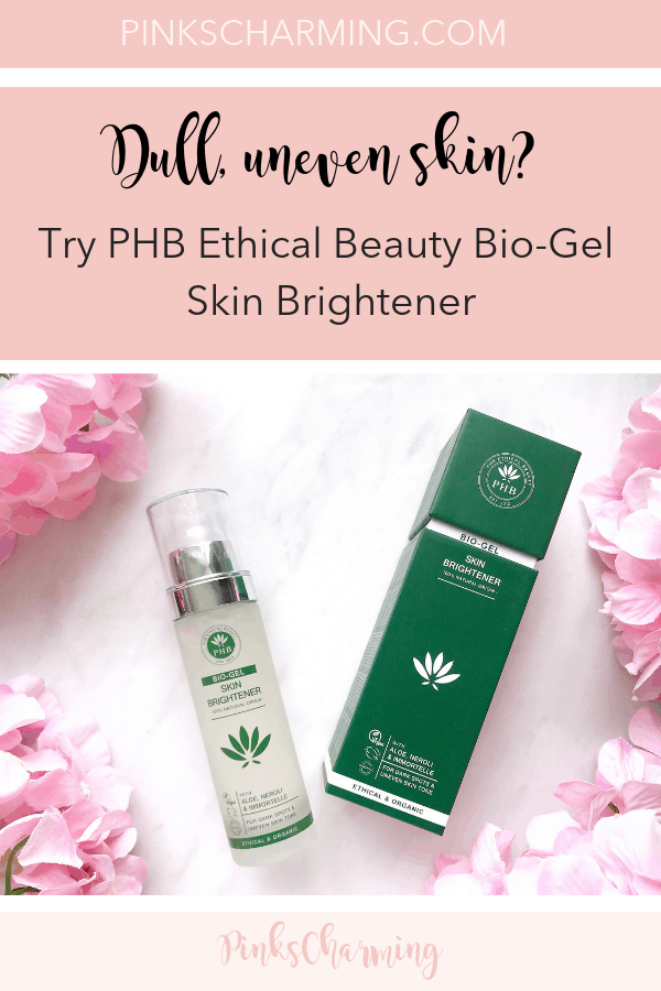 Dull, uneven skin tone? PHB Ethical Beauty Bio-Gel Skin Brightener Review