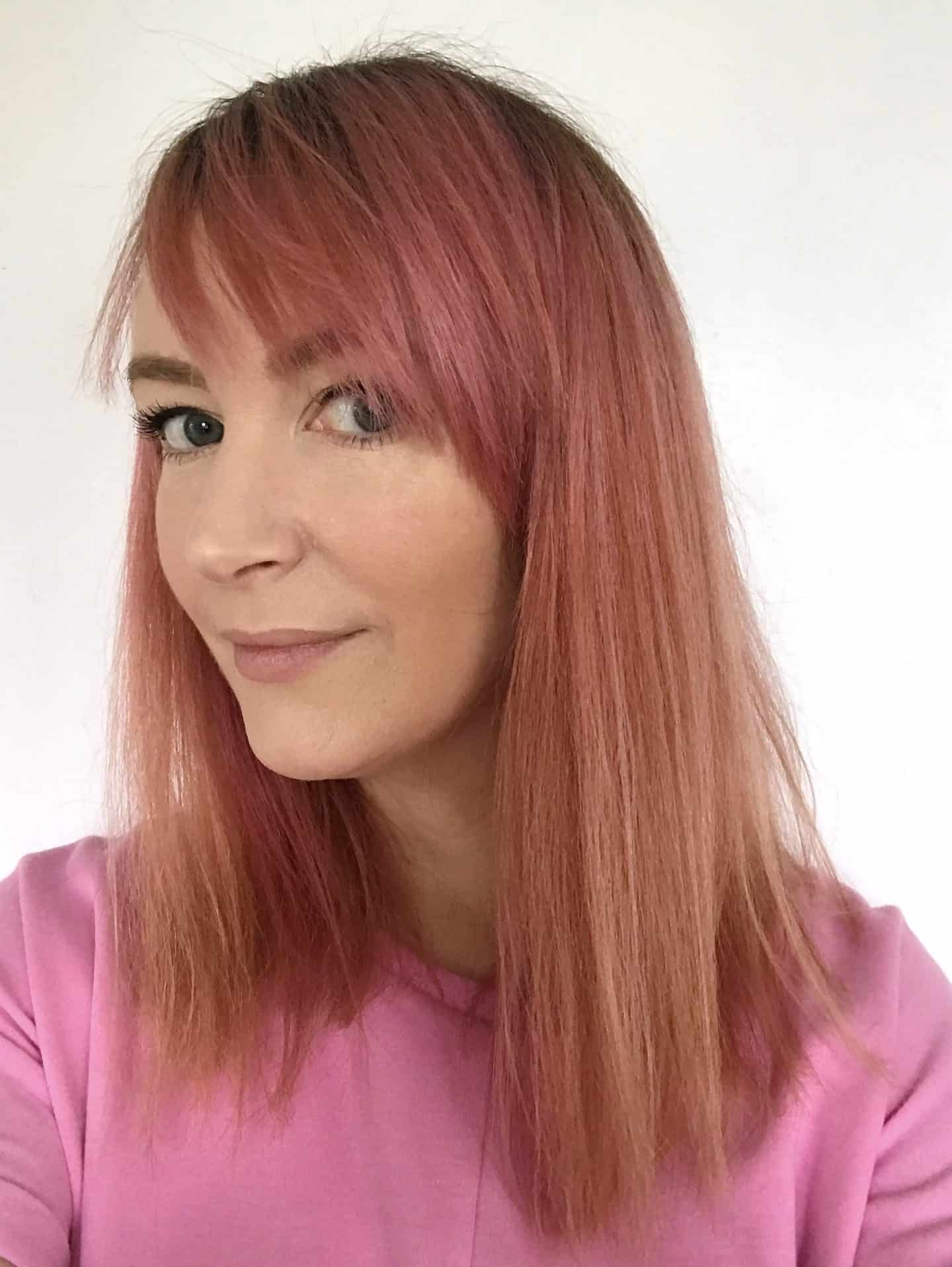 Hair after using infuse My. colour Ruby Shampoo for two washes