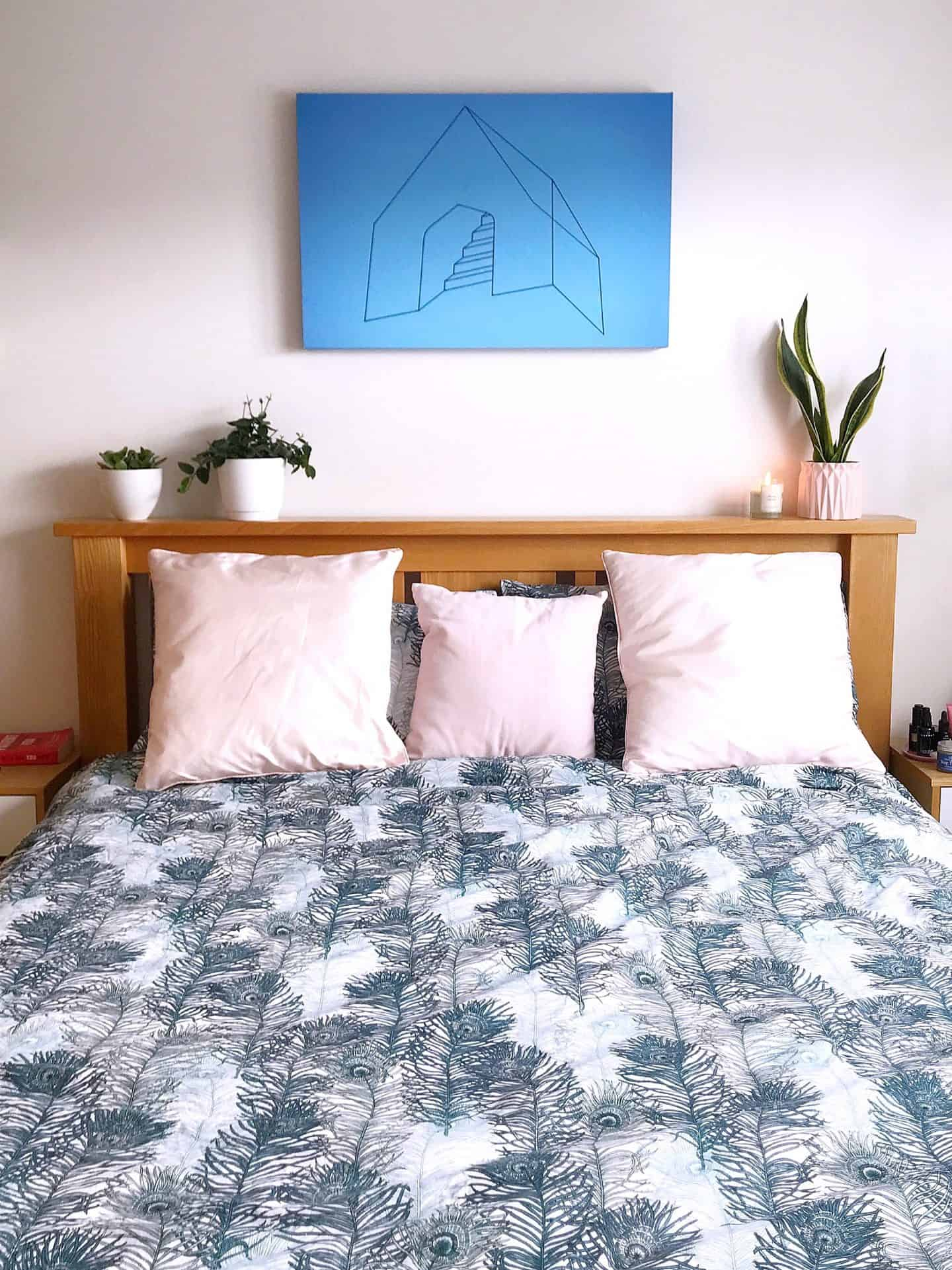 Styling my bedroom with Deyoungs Peacock Printed Duvet set