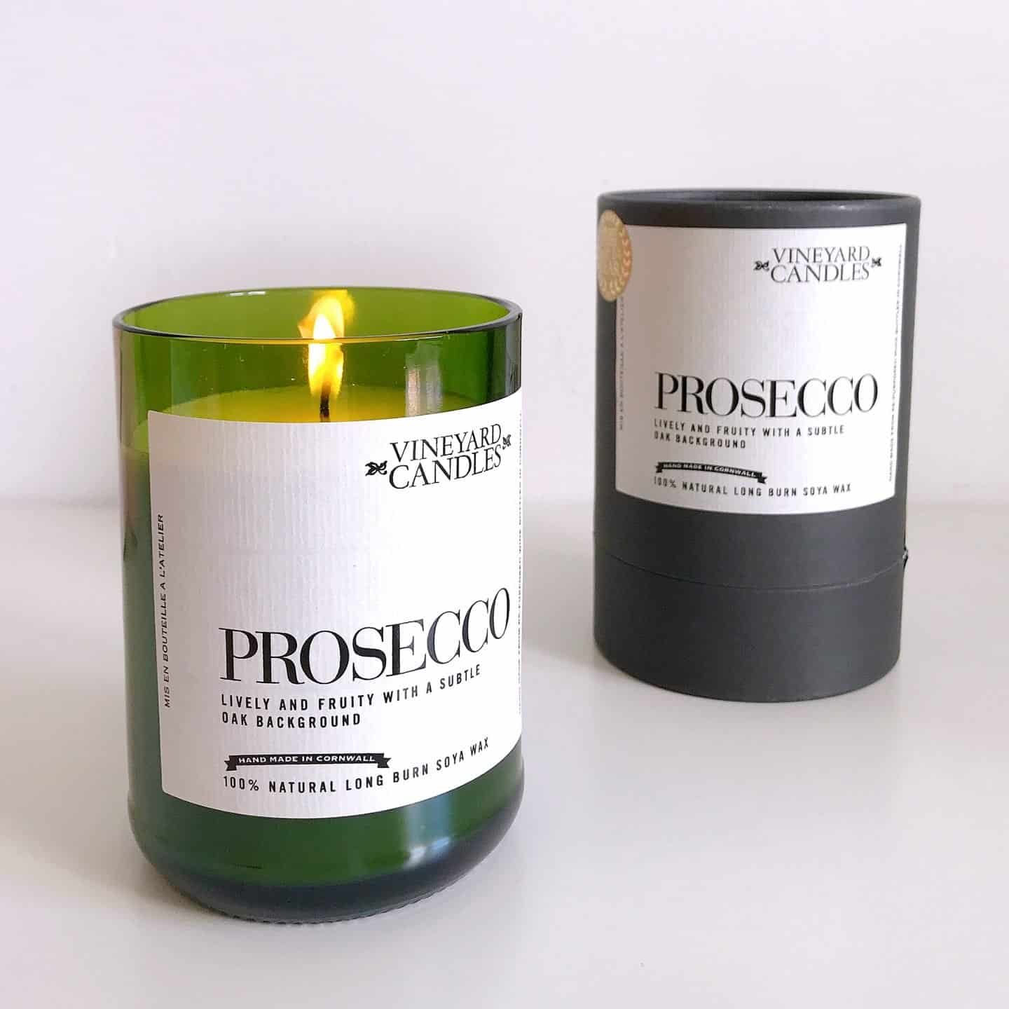 Vineyard Candles Prosecco natural soya wax candle makes an ideal Mother's Day gift idea